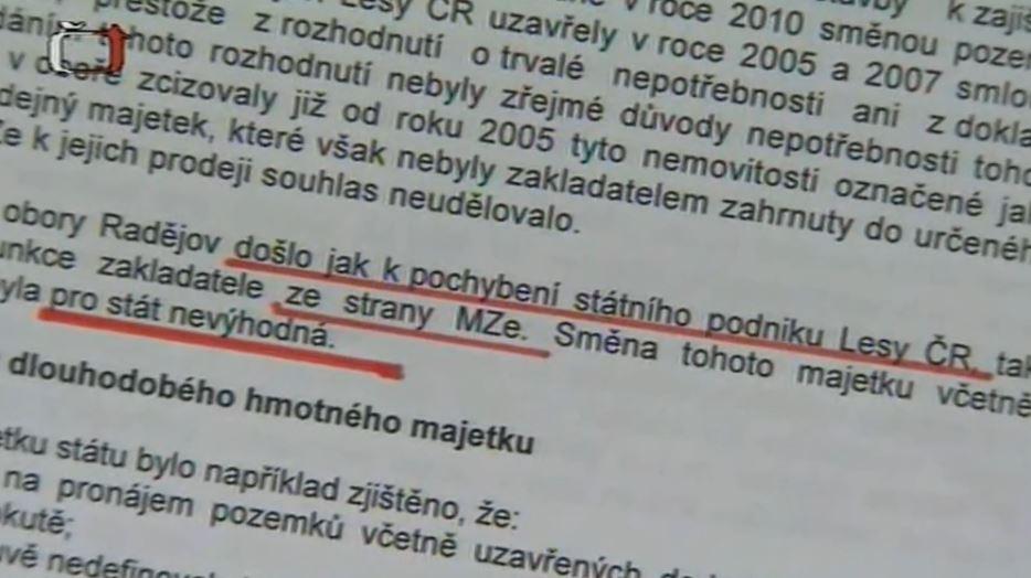 Znepokojivá fakta ve zprávě NKÚ o hospodaření s. p. Lesy ČR